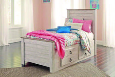 Willowton Twin Bed with Underbed Storage Drawers by Signature Design at Fisher Home Furnishings Twin Storage Bed, Underbed Storage Drawers, Under Bed Storage, Panel Headboard, Headboard And Footboard, Panel Bed, Ashley Furniture Industries, Floating, Bandeau Outfit