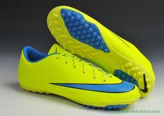 the latest 4be8e 66833 lojas de chuteiras baratas Masculino Volt Azul Nike Mercurial Victory X TF