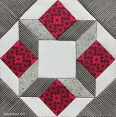 Dutch Modern Quilt Guild – block of the week (ipatchandquilt) Quilt Square Patterns, Barn Quilt Patterns, Square Quilt, Pattern Blocks, 3d Quilts, Patchwork Quilting, Scrappy Quilts, Star Quilt Blocks, Star Quilts