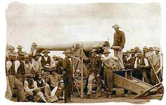 De Boers using the Long Tom Canon in the siege of Mafeking, Anglo-Boer War Legends And Myths, The Siege, Model Tanks, Old London, My Land, Zulu, African History, White Man, Wwi