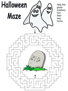 halloween maze ghosts