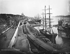 View of the Harbour, Montreal, everyday: Old Photographs of Canada from Vieux Port Montreal, Old Montreal, Montreal Ville, Montreal Quebec, Banff National Park, National Parks, Old Pictures, Old Photos, Montreal Museums