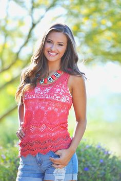 Crazy Little Thing Called Love Top - Coral from Closet Candy Boutique
