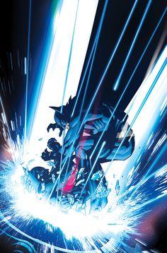 Batman vs Batman Beyond by Ryan Sook