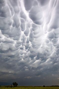 Mammatus clouds.