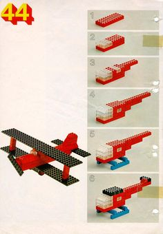 LEGO 222 Building Ideas Book instructions displayed page by page to help you build this amazing LEGO Books set Lego Duplo, Lego 3d, Lego Plane, Manual Lego, Deco Lego, Lego Therapy, Lego Building, Building Ideas, Construction Lego