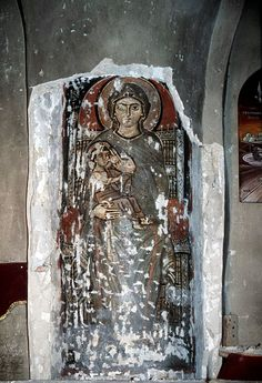 """On July the Icon of the Virgin """"Galaktotrophousa"""" (Γαλακτοτροφουσα, meaning """"the Milk-Giver"""") is celebrated. The Icon shows the Mother of God breast-feeding Christ. Textiles, Orthodox Icons, Renaissance Art, Russian Art, Romanesque, Illuminated Manuscript, Religious Art, Little Sisters, Art Studios"""