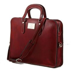 Alba - Tuscany Leather - Women's Leather briefcase 1 compartment - Bags For Business