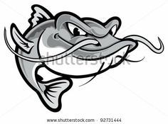 Find Catfish stock images in HD and millions of other royalty-free stock photos, illustrations and vectors in the Shutterstock collection. Thousands of new, high-quality pictures added every day. Fish Drawings, Cool Art Drawings, Cartoon Drawings, Pencil Drawings, Drawing Ideas, Catfish Tattoo, Small Catfish, Blue Catfish, Wels Catfish