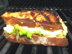 Grilled Mozzarella and Avocado Sandwiches
