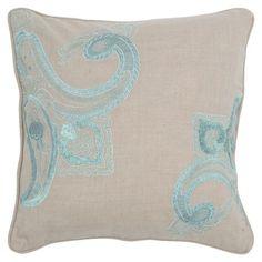 Blue & gray pillow