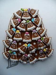 Fotka: Christmas Treats, Christmas Cookies, Christmas Holidays, Xmas, Banner, Border Design, Cookie Bars, Cookie Decorating, Gingerbread Cookies