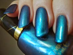 Pretty Painted Fingers & Toes Nail Polish| Serafini Amelia| Revlon I'm Electro (over black on ring) *click for more*