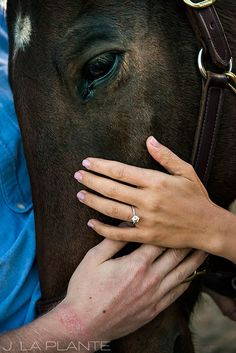 J. La Plante Photo | Colorado Wedding Photographer | Horse Ranch Engagement | Engagement Shoot with Horse