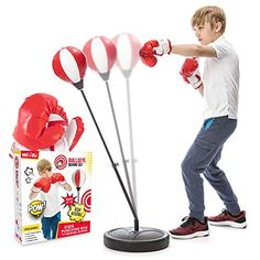 Amazon has the Whoobli Punching Bag for Kids Incl Boxing Gloves | 3-8 Years Old Adjustable Kids Punching Bag with Stand | Boxing Bag Set Toy for Boys & Girls marked down from $42.97 to $29.97. That is 30% off retail price! TO GET THIS DEAL: GO HERE to go to the product page and… Best Punching Bag, Heavy Punching Bag, Boxing Punching Bag, Mma Training Gloves, Boxing Training, Kids Punch, Boxing Hand Wraps, Sparring Gloves, 8 Year Olds