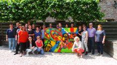 Met 25 personen een graffiti maken