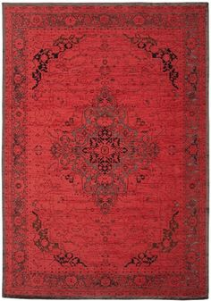 Vintage Chenille Rugs Heriz by Cotswold Mat Company, the perfect gift for Explore more unique gifts in our curated marketplace. Scarlet, Diy Vintage, Vintage Rugs, Jacquard Loom, Patchwork Designs, Red Rugs, Floor Rugs, Colorful Rugs, Rugs On Carpet