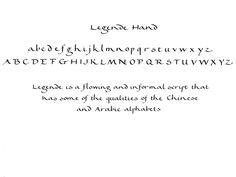 Legende calligraphy alphabet