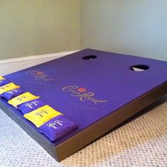 Cornhole boards #Padgram Crown Royal Quilt, Crown Royal Bags, Royal Crowns, Crown Crafts, Diy Crown, Cute Crafts, Diy And Crafts, Crafts For Kids, Diy Craft Projects