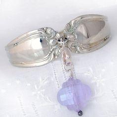 Vintage Spoon Bracelet   Silverware Jewelry   Spoon by mcfmiller, $45.00
