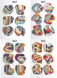 PDF pattern / needlepoint coaster set No2No5 by CresusArtisanat, $6.50