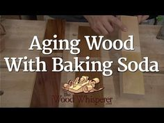 Aging Wood with Baking Soda video tutorial from The Wood Whisperer. How to age wood with baking soda. http://youtu.be/JYH083c8dEw chemical stains on wood. chemical reaction with wood. #woodworking #stainingwood #DIYcoloringwood