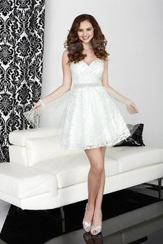 Jacquelin Bridals Canada - 27020 - Prom - Sweetheart strapless neckline with Pleated bodice, Heavily beaded Waistband with Pearls and Rhinestone. Full tulle A-Line skirt with Lace overlay. Center back zipper.