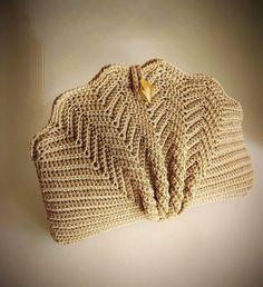 Minimalist Style Crochet Bag,Embossed Leaves Crocheted Tote,Natural Cotton Large Bag,Strong and Flexible Crochet Handbag,Shopper-Market Bag Free Crochet Bag, Crochet Shell Stitch, Crochet Clutch, Crochet Handbags, Crochet Purses, Love Crochet, Bead Crochet, Vintage Crochet, Crochet Baby