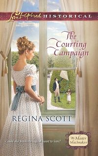The Courting Campaign by Regina Scott, first book in the Master Matchmakers series. Ever since scandal destroyed his career, Sir Nicholas Rotherford has devoted himself to his new invention.  Now his daughter's sweet, quick-witted nanny Emmy Pyrmont is proving an unexpected distraction.  All evidence suggests that happiness is within reach--if only a man of logic can trust in the deductions of his own heart.