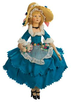 Apples - An Auction of Antique Dolls: 13 Rare Italian Felt Lady by Lenci,1925 Catalog-Cover Doll