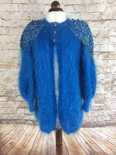 Vintage Hand Knitted Mohair Cardigan Jacket от InVogueToVintage
