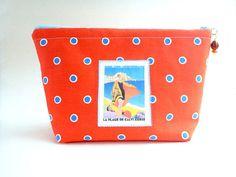 Waterproof cosmetic bag Art Deco travel image makeup pouch