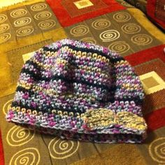 A quick crocheted hat made for a friend! Love the little simple bow :)