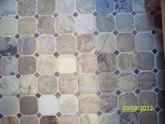 Pietra Art Slate Tiles Square Feet Of Inch Octagon Shaped - 4 inch slate tile