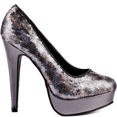 Coral Sequin - Pewter outside view
