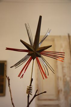 Star tree topper. via Etsy.