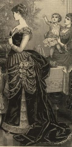 shoulders! flaming angel story - Fashionable Ball Gowns 1870's - 1900's