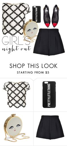 """""""Girls"""" by luckytania on Polyvore featuring Lipsy, RED Valentino, Love Moschino, nice, ootd, girlsnightout and bestdressedguest"""