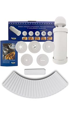 Churro Maker Churrera Including Hollow Churro Nozzle Bundled with 25 Churro Kraft Paper Serving Sleeves Best Price