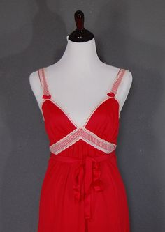 Vintage Lingerie / Nightgown Robe / Red / by naturalstatevintage, $26.00