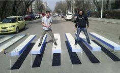 #CosasDePeatones Cruces peatonales en 3D.