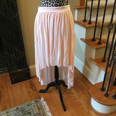 American Eagle outfitters bi level skirt American eagle outfitters bi level baby pink knit skirt American Eagle Outfitters Skirts High Low