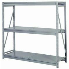 """Bulk Storage Rack Starter, 3 Tier, Solid Decking, 60""""Wx30""""Dx72""""H Gray by LYON WORKSPACE PRODUCTS. $420.95. Bulk Storage Rack Starter, 3 Tier, Solid Decking, 60""""Wx30""""Dx72""""H Gray Heavy gauge steel uprights and beams. Adjustable on 1-1/2"""" centers. 1650-3300 lbs. capacity per pair of beams. Weight Capacity based on evenly distributed load. 10,000 lbs. per upright assembly."""