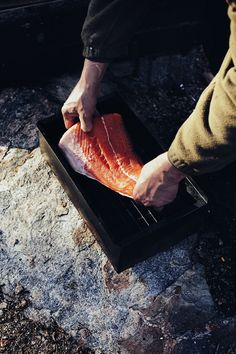Traditions: smoked salmon.