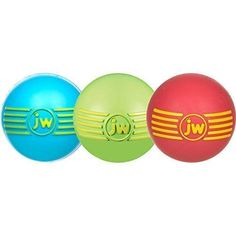 JW PET ISqueak Squeaker Dog and Puppy Fetch Chew Toy SMALL BALL 3 PACK *** To view further for this item, visit the image link. (This is an affiliate link) #Dogs