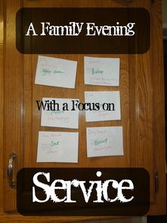 """Pennies of Time: """"Penny of Time"""" Adventure: Family Evening with a Service Lesson.  We used a story about service and a secret card selection to plan service acts for each other and for two people outside our family."""