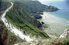 Sark, Channel islands. The bridge between Sark and Little Sark