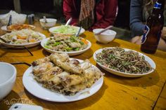 An array of foods in Sapa