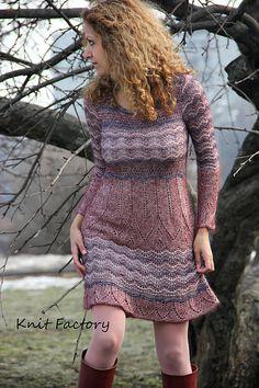 """Купить Платье """"Дикий жемчуг"""" - платье, вязаное платье, ручная работа, трикотажное платье"""