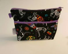 Nurse Bag, Organizer, Stethoscope, Blood Pressure Cuff, CNA, RN, LPN, Midwife, Doula, Travel bag. Sugar Skull Dogs, Day of The Dead! *R2S!* by AmethystAlleyFantasy on Etsy